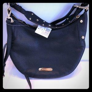 Michael Kors Hayes Black Leather Studded Handbag